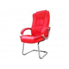 Cadeira Presidente Fixa Interlocutor Almofadada para Escritório Vermelha - LMS-BE-8-661-1-F