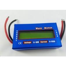 Wattimetro / Medidor Digital de Voltagem, Amperagem e Corrente - 100A