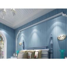 Papel de Parede - Azul com Listras Azul Escuro -  Rolo com 10m x 53cm - LMS-PPY-YW92-1