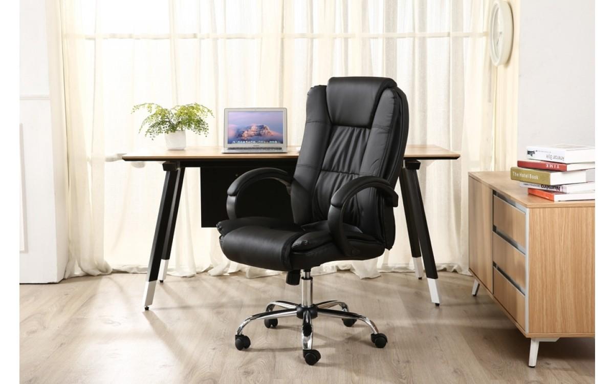 Cadeira Giratória para Escritório Preta - LenharoMegaStore